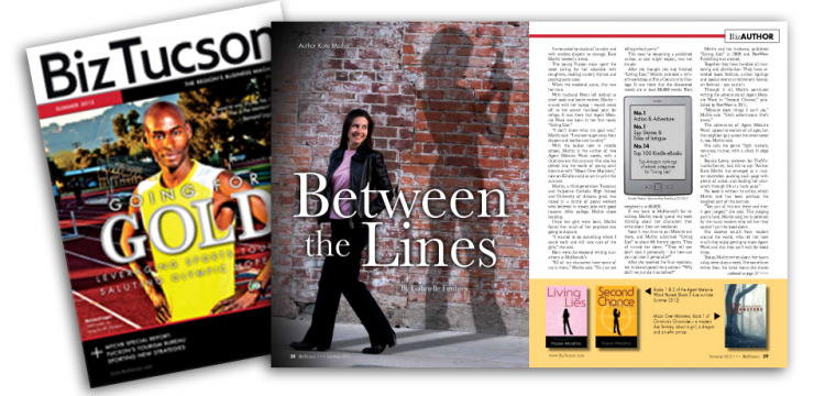 KATE FEATURED IN SUMMER 2012 ISSUE OF BIZTUCSON MAGASINE
